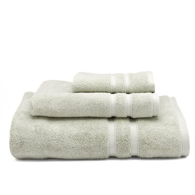 Solid Dobby Cotton Bath Towel Color: Stone (Moss Green)