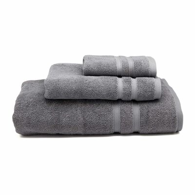 Cotton Wash Cloth Color: Icicle (Dark Gray)