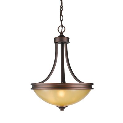 Russell Farm 3-Light Inverted Pendant Shade Color: Beige