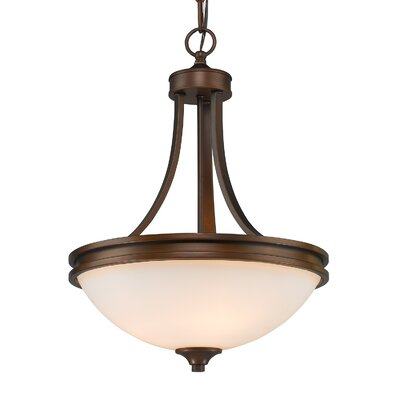 Russell Farm 3-Light Inverted Pendant Shade Color: Opal