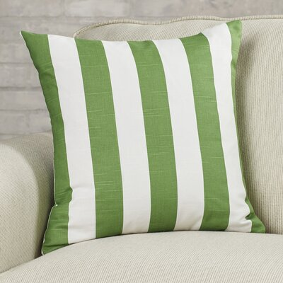Brino Striped Indoor/Outdoor Throw Pillow Color: Sage