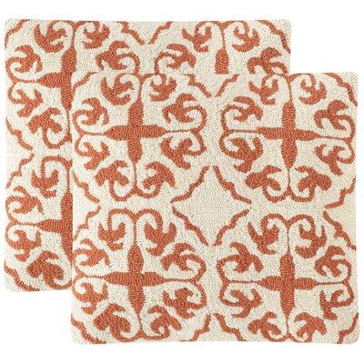 Sunnyside Polypropelene Indoor/Outdoor Throw Pillow Color: Cream / Tropical Orange