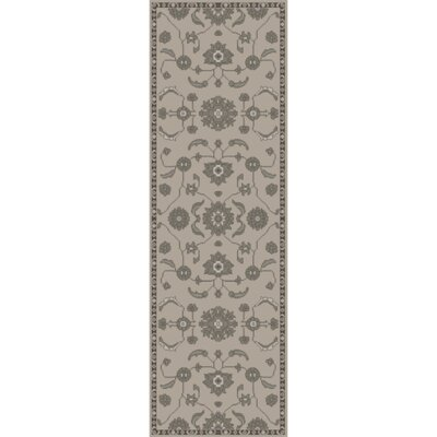 Red Spring Light Gray & Moss Area Rug Rug Size: Runner 26 x 8