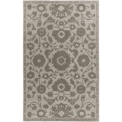 Red Spring Light Gray & Moss Area Rug Rug Size: 4' x 6'