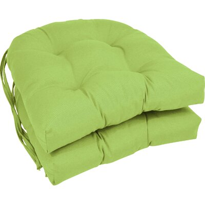 Outdoor Solid Twill Dining Chair Cushion Color: Mojito Lime