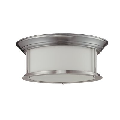 Stonehedge 3-Light Flush Mount Finish: Brushed Nickel