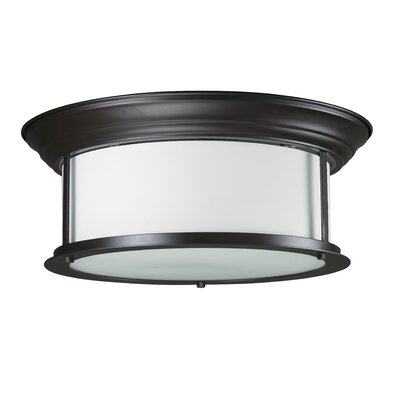 Stonehedge 3-Light Flush Mount Finish: Bronze