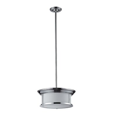Stonehedge 3-Light Pendant Frame Finish: Chrome