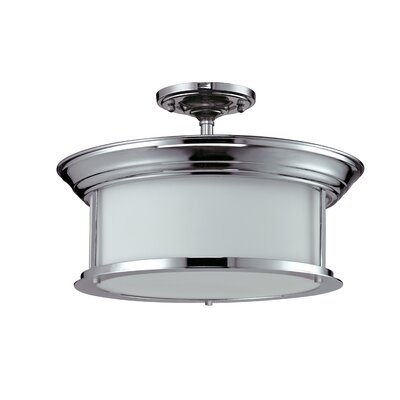 Stonehedge 3-Light Semi-Flush Mount Finish: Chrome