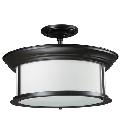 Stonehedge 3-Light Semi-Flush Mount Finish: Bronze