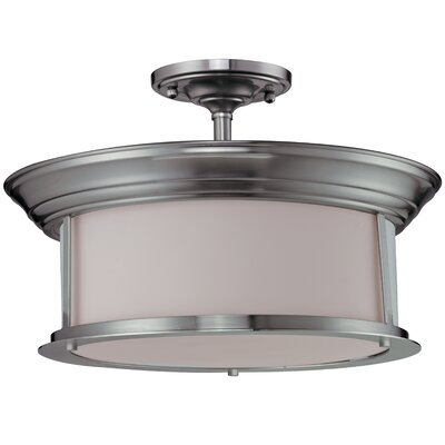 Stonehedge 3-Light Semi-Flush Mount Finish: Brushed Nickel