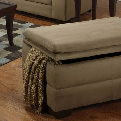 Simmons Upholstery Richland Storage Ottoman Upholstery: Luna Mineral