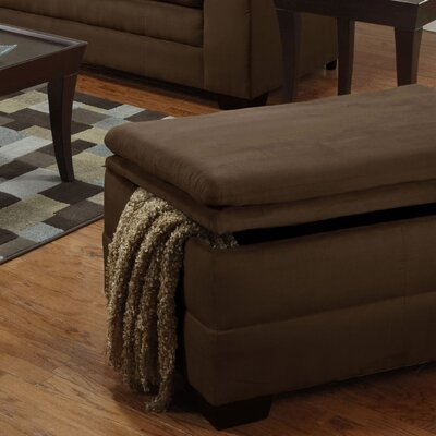 Simmons Upholstery Richland Storage Ottoman Upholstery: Luna Chocolate
