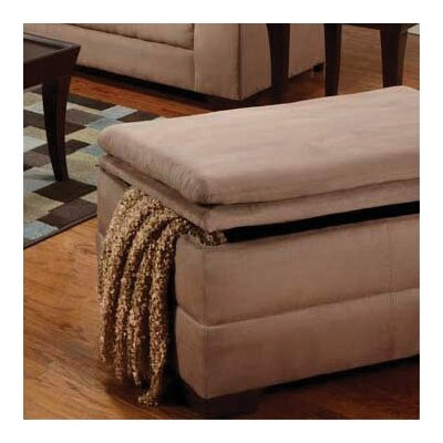 Simmons Upholstery Richland Storage Ottoman Upholstery: Luna Latte