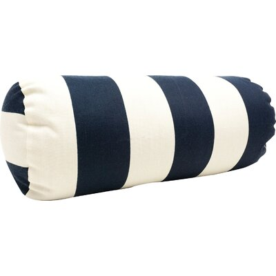 Mufeeda Indoor/Outdoor Bolster Pillow Color: Navy Blue