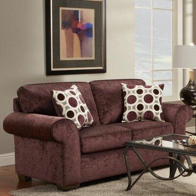Ranger Loveseat Upholstery: Prism Elderberry