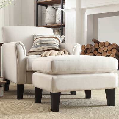 Oliver Modern Armchair and Ottoman