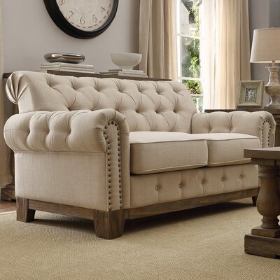 New Britain Tufted Scroll Loveseat