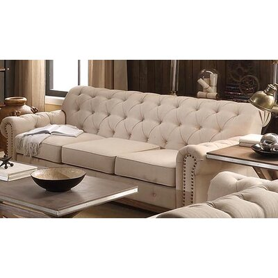 New Britain Tufted Scroll Sofa