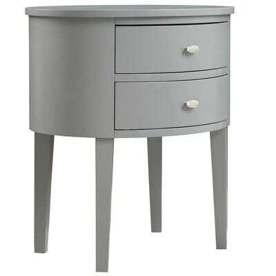 Oliver 2 Drawer Nightstand Color: Gray