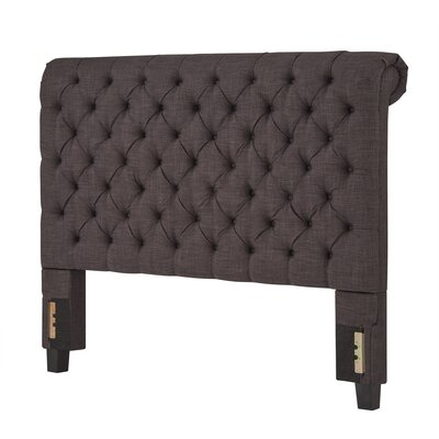 Oliver King Upholstered Panel Headboard Upholstery: Dark Gray