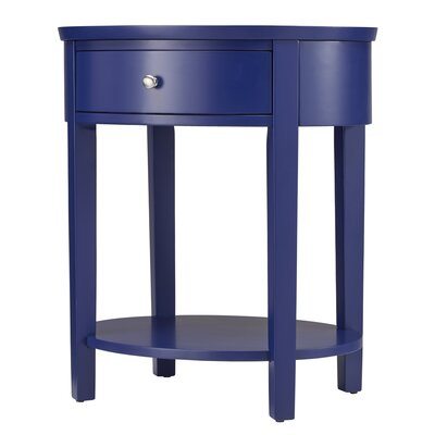 Canterbury End Table with Storage Color: Twilight Blue