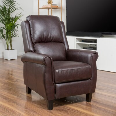 Lofton Manual Recliner Upholstery: Burgundy