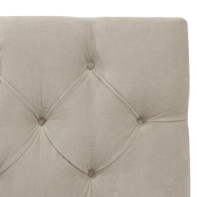 Plattekill Upholstered Panel Headboard Size: King, Upholstery: Light Gray