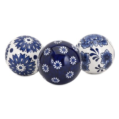 3 Piece Decorative Sphere Sculpture Set