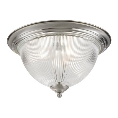 Grosse 3-Light White Flush Mount Finish: Brushed Nickel