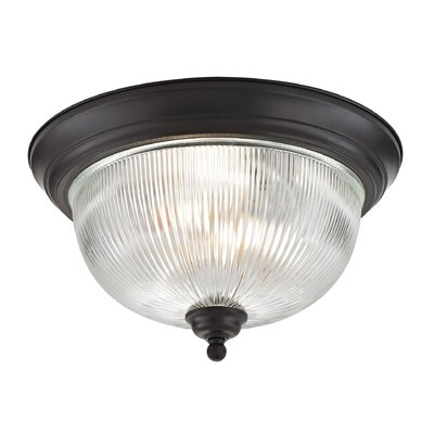Grosse 3-Light Flush Mount Finish: Oil Rubbed Bronze