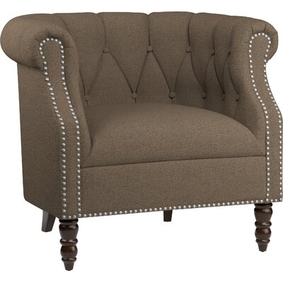 Huntingdon Barrel Chair Upholstery: Brown