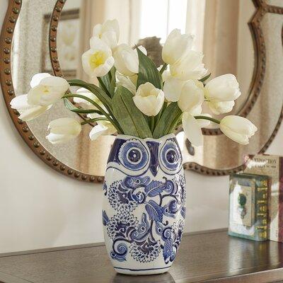 Anson Ceramic Owl Vase
