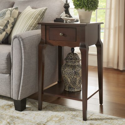 Hague End Table With Storage� Color: Espresso