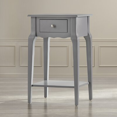 Daltrey 1 Drawer End Table Color: Frost Grey