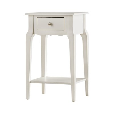 Daltrey 1 Drawer End Table Color: White