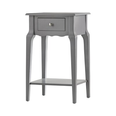 Hague End Table With Storage� Color: Frost Grey