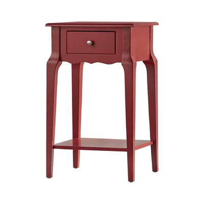 Daltrey 1 Drawer End Table Color: Samba Red