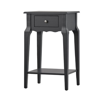 Daltrey 1 Drawer End Table Color: Vulcan Black