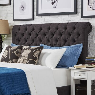 Carthusia Queen Upholstered Panel Headboard Color: Dark Gray