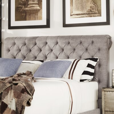 Carthusia Queen Upholstered Panel Headboard Color: Gray