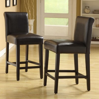 Genesee 24 Bar Stool Upholstery: Dark Brown