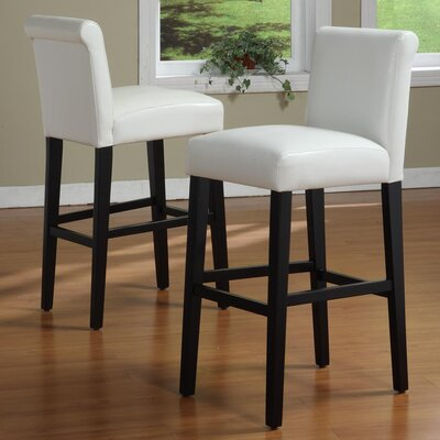 Genesee 29 Bar Stool Upholstery: White