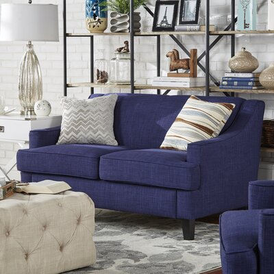 Rhinebeck Loveseat Upholstery: Twilight Blue