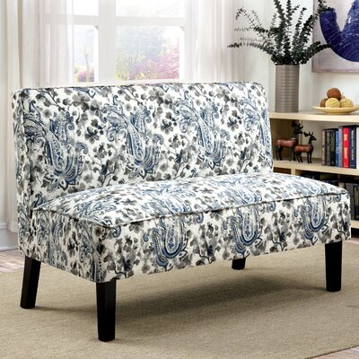 THRE4150 28203539 THRE4150 Three Posts Ridgefield Print Love Seat