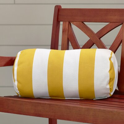 Mufeeda Indoor/Outdoor Bolster Pillow Color: Yellow