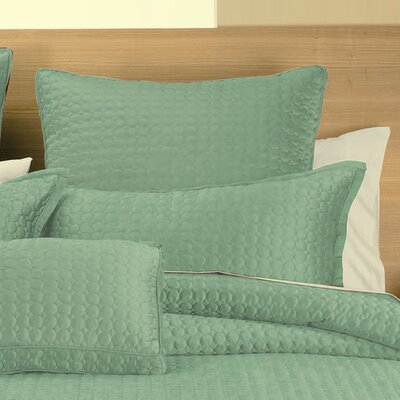 Westchester Quilt Sham Color: Green Circle, Size: Euro