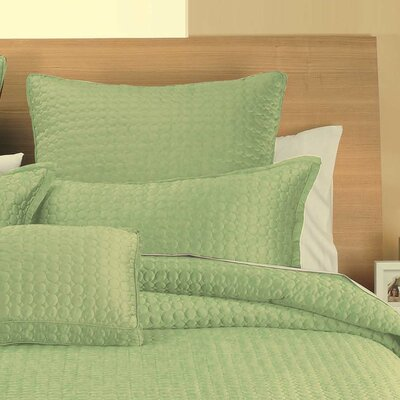 Hopkinton Quilt Sham Color: Green Circle, Size: Euro