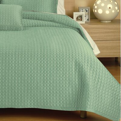 Westchester Quilt Size: King, Color: Blue Circle