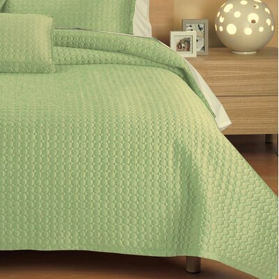 Westchester Quilt Size: Queen, Color: Green Circle